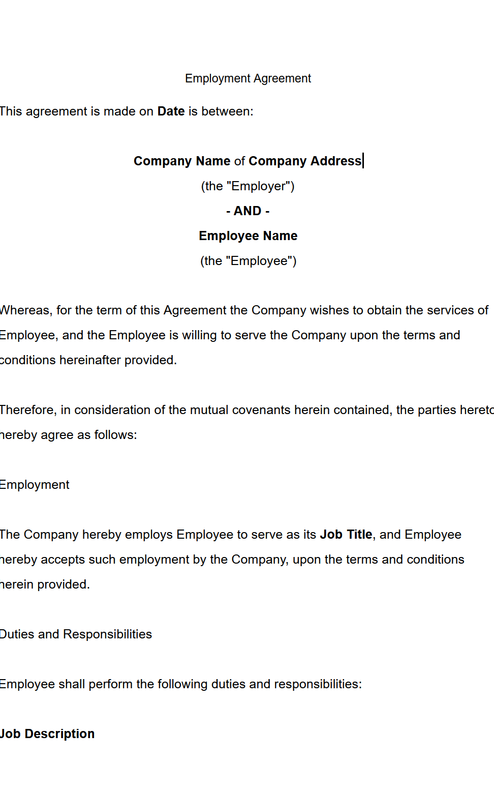 GPT3- Employment Contract